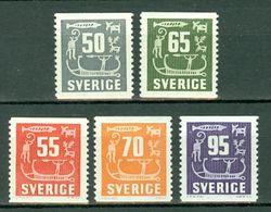 Sverige 1954, 1957/64 Yv. 389**, 391**, 424/425**, 426A**  MNH Cote Yv. € 9,75 - Suède