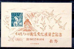 Hoja Bloque De Japón N ºYvert 19 Nuevo Sin Goma - Blocks & Sheetlets