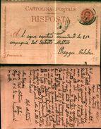 7640a) Cartolina -postale Con Risposta Pagata  Cent 15 Umberto I Da  Palmi A Reggio Calabria 20-4--98   -M/ 97 - 1878-00 Umberto I