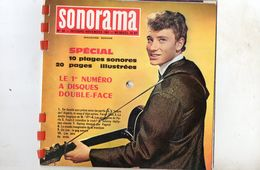 "45 Tours EP - JOHNNY HALLYDAY - SONORAMA N° 34 1961 - "" JOHNNY HALLYDAY CHANTE - Vinyles"