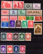 1943-45  Prisonniers, Orval, Postiers, Armoiries Des Provinces, Entre 623 Et 724**, Cote 26 €, - Belgique