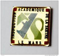 Pin's Inspection Académique De La Sarthe Le Mans - 29R - Villes