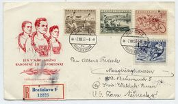 CZECHOSLOVAKIA 1952 Physical Culture Set On  FDC.  Michel 749-52 - FDC