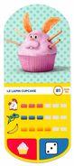 IM281 : Auchan Moche Méchant Carte N°81 Lapin Cupcake - Trading Cards