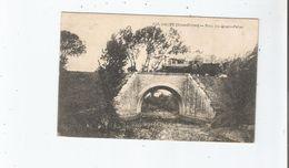 MAUZE (DEUX SEVRES) 793 PONT DES QUATRE PELLES (TRAIN CIRCULANT)  1920 - Mauze Sur Le Mignon