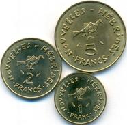 Nouvelles Hebrides - New Hebrides 1 + 2 + 5 Francs 1970-1979 UNC - Vanuatu