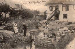 Lot De 4 Cpa  La Ville LE POULIGUEN  Parc De La Gare Entree Du Bois Depart Emile Solacroup  Plage  A Heure Bains - Le Pouliguen