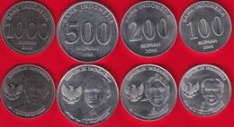 Indonesia Set Of 4 Coins: 100 - 1000 Rupiah 2016 UNC - Indonesia