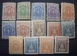 Polen Markenlot 1922 - 1926 ** Postfrisch     (R271) - Nuovi