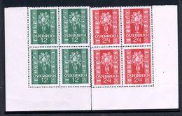 """Österreich 1937 : """"Glückwunschmarken"""" 4er-Block Satz 658/9 Postfrisch Luxus Mit Eckrand - 1918-1945 1st Republic"""