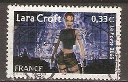 FRANCE   -   2005  .  Y&T N° 3850 Oblitéré  Cachet Rond.    Lara Croft - Usados