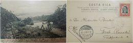 O) 1908 COSTA RICA, POSTAL CARD AMBULANTE-LANDSCAPE RIVER REVENTAZON, RAILWAY.- STAMP JOSE M. CAÑAS SCOTT A45,   XF - Costa Rica