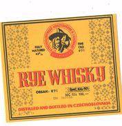 Czechoslovakia - Rye Whisky, Product In Liptovsky Mikulas, Slovakia - Whisky