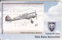 TURKEY(chip) - Airplane, Curtiss Falcon CW-22R B 1939-49 80(50 Units), Used - Airplanes