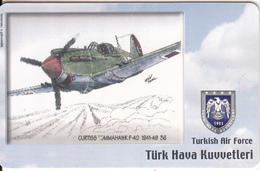 TURKEY(chip) - Airplane, Curtiss Tommahawk P-40 1941-48 36(50 Units), Used - Vliegtuigen