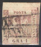 A210) A.S.I. NAPOLI 1 GRANO I TAVOLA USATO - BORDO DI FOGLIO - Naples