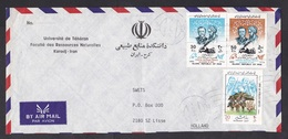 Iran: Airmail Cover To Netherlands, 3 Stamps, Nomads Day, Philexfrance Exhibition (traces Of Use) - Iran