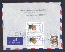 Iran: Airmail Cover To Netherlands, 3 Stamps, Bird Of Prophet, Unity Week, Person (traces Of Use) - Iran