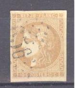 France: Yvert N° 43°; Cote 80.00€; Petit Clair - 1870 Emission De Bordeaux