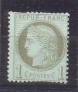 France: Yvert N° 50**; Cote 100.00€; Des Dents Courtes En Haut - 1871-1875 Cérès