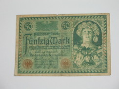 50 Funfzig Mark Reichsbankdirktorium  1920  - Germany  **** EN ACHAT IMMEDIAT **** - [ 2] 1871-1918 : Empire Allemand