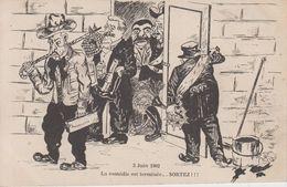 CPA Précurseur Affaire Dreyfus - 3 Juin 1902 La Comédie Est Terminée ... Sortez - Satiriques
