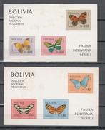 Bolivia 1970,6V In 2 Blocks,butterflies,vlinders,schmetterlinge,papillons,mariposas,READ,MNH/Postfris,(L3249) - Butterflies