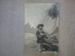 Joyeux Noël, Jeune Fille, Bouquet De Gui Sur L'arbre, 1920, Timbre (F3) - Weihnachten