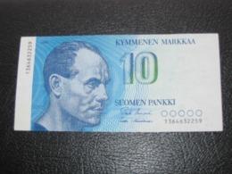 10 Kymmenen Markkaa 1986 - Suomen Pankki - Finlands Bank **** ACHAT IMMEDIAT *** - Finlande