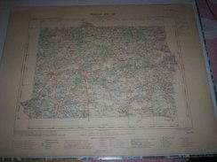 CARTE GEOGRAPHIQUE _ G - Format  45 X 57  De CHER_LOIRE Et CHER_LOIRET_Feuille LA FERTE-ST AUBIN_XVI_ 18 ) En 1905 - Carte Geographique
