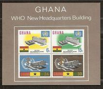 1966 Ghana SANITA'  HEALTH Foglietto Di 4v. (21) MNH** - Ghana (1957-...)