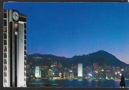 ! - Hong-Kong - Hôtel Sheraton - Vue De Nuit - Avec Timbre De Thailande YT 860 - Chine (Hong Kong)