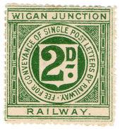 (I.B) Wigan Junction Railway : Letter Stamp 2d - 1840-1901 (Victoria)