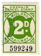 (I.B) Midland Railway : Prepaid Parcel Stamp 2d - 1840-1901 (Victoria)