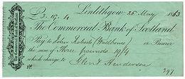 (I.B) QV Revenue : Draft On Demand 1d (Linlithgow 1863) - 1840-1901 (Victoria)