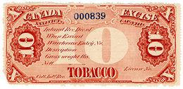 (I.B) Canada Revenue : Tobacco Duty 10lb - Canada