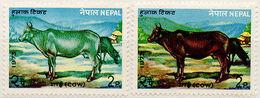 (I.B) Nepal Postal : Cow 2p (missing Colour) - Nepal