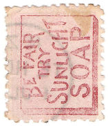 (I.B) New Zealand Postal : Advert Back - Sunlight Soap - New Zealand