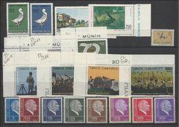 1972 Turchia Turkey 8 Serie MNH** Con 28v.: Mi.2250/51, 2255/57, 2261/67, 2269/77 - 1921-... Republic
