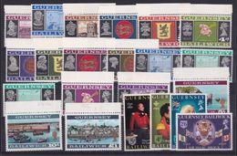 1969 Guernsey SERIE ORDINARIA + SIR I. BROCK 2 Serie MNH** (1/18+19/22) DEFINITIVE  VIEWS - Guernesey