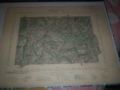 CARTE GEOGRAPHIQUE _ G - Format  45 X 57  De ALPES-MARITIME_DROME_ISERE_Feuille VEYNES_XXIII_ 30 ) En 1897 - Geographische Kaarten