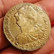 France Rareté ! ♦ Louis XVI ♦ 2 Sols ♦ 1792 A ♦ Paris ♦ RARE ! - 1774-1791 Louis XVI