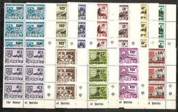 1978 Jersey SEGNATASSE POSTAGE DUE (21/32) 6 Serie Di 12v. MNH** Blocco AF - Jersey