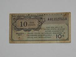 10 Ten Cents - Série 461  - Military Payment Certificate 1946    **** EN ACHAT IMMEDIAT ****  Billet Assez Rare !! - Certificati Di Pagamenti Militari (1946-1973)