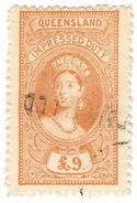 (I.B) Australia - Queensland Revenue : Impressed Duty £9 - Australia