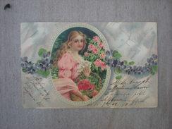 Jeune Femme Dans Un Médaillon, 1902, Timbre (G3) - Illustrateurs & Photographes
