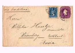 R) 1899 CHILE, SAN FELIPE VIA CORDILLERA TO RUSSIA, ENVELOPE WITH PRINTED SEAL OF 5 CENTS COLON - Chile