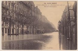 PARIS INONDÉ ... CLICHÉ DU 28 JANVIER 1910 (Crue Maxi. 9m50) ... RUE DE LA BOURDONNAIS - Inondations De 1910