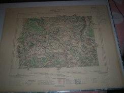 CARTE GEOGRAPHIQUE _ G - Format  45 X 57  De MEURTHE Et MOSELLE _VOSGES_Feuille MIRECOURT_XXIV_ 15 ) En 1884 - Geographische Kaarten