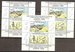 1994 Cipro Turca Turkish Cyprus EUROPA CEPT EUROPE 3 Foglietti MNH** Souv. Sheets - 1994